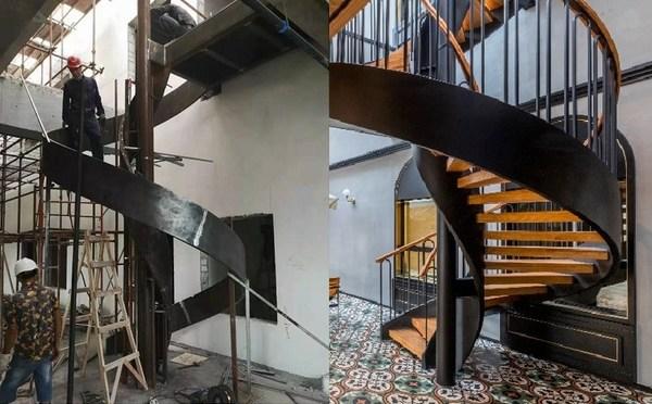 项目改造前后对比 -- 旋转扶梯